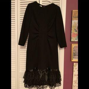 Oscar de la Renta formal black dress
